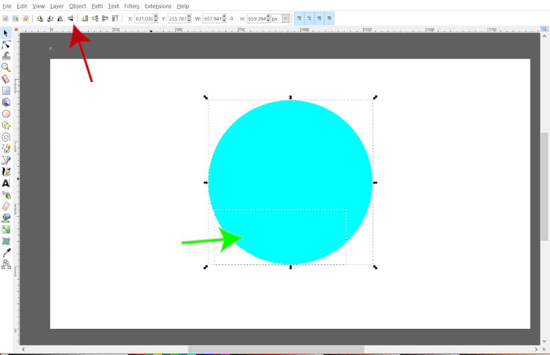 Flip Text Put in a Circle in Inkscape