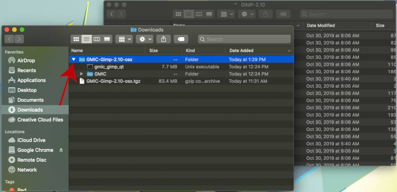 GMIC QT Pobierz plik GIMP na MAC