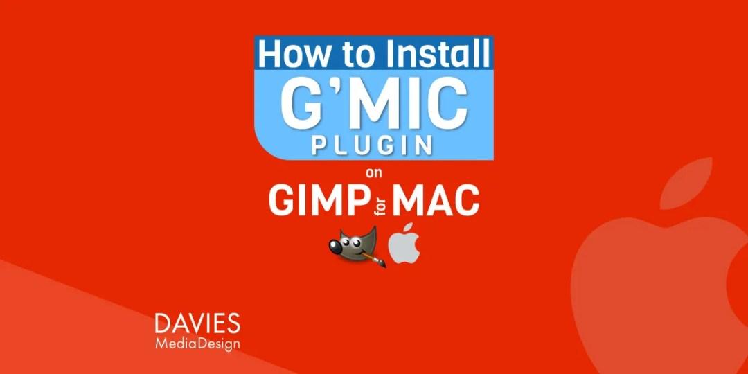 So installieren Sie das GMIC Plugin GIMP für MAC Tutorial