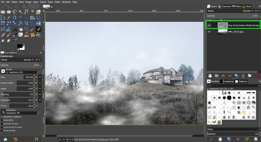 New Fog Image Layer with No Background