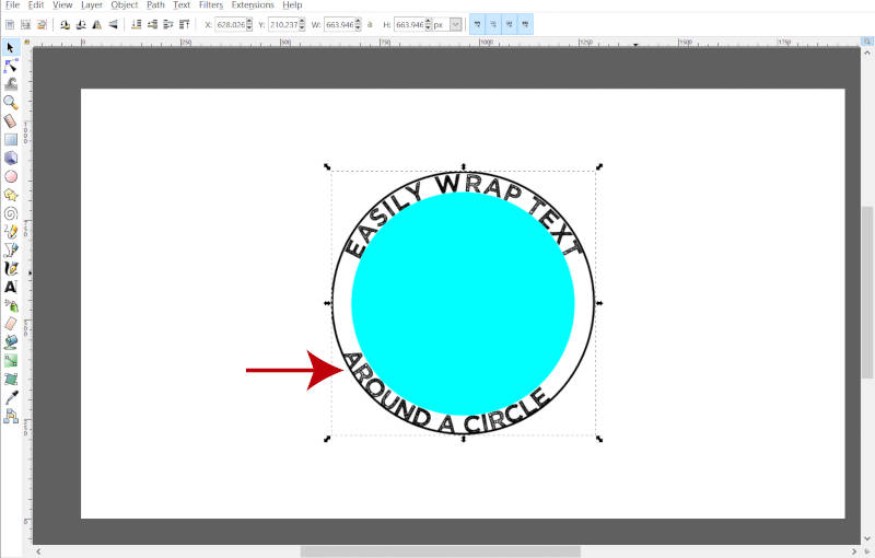Reposition Ellipse in Inkscape