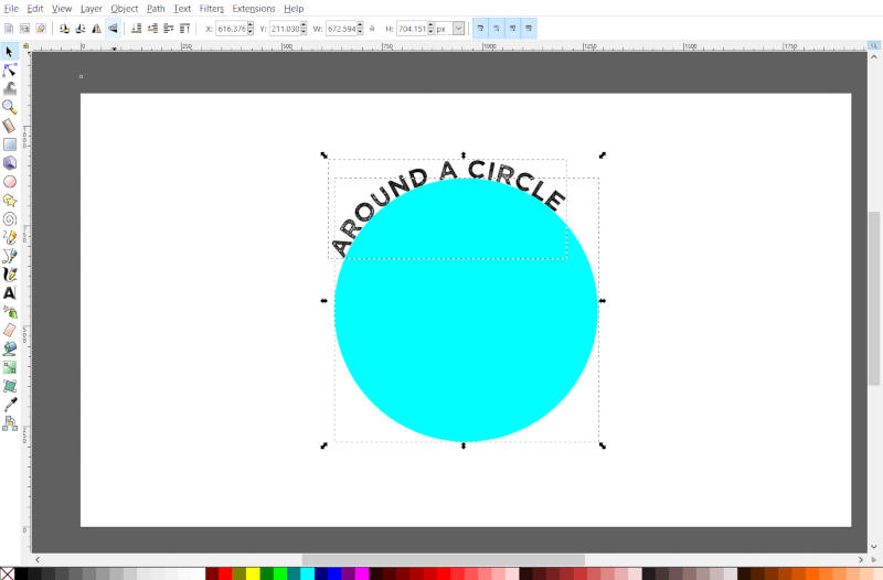 Text Around a Circle in Inkscape