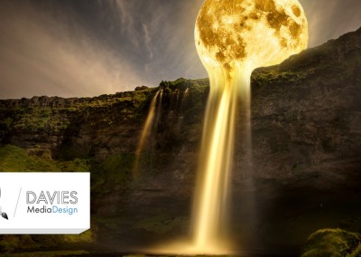 Moon Waterfall Photo Manipulation (GIMP Tutorial)