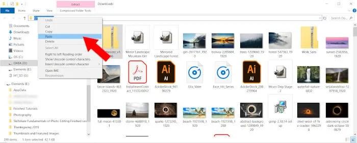 Incolla plugin GIMP destinazione file