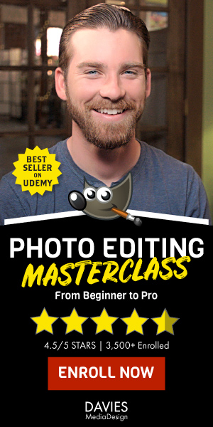 Best Selling GIMP Photo Editing Masterclass on Udemy