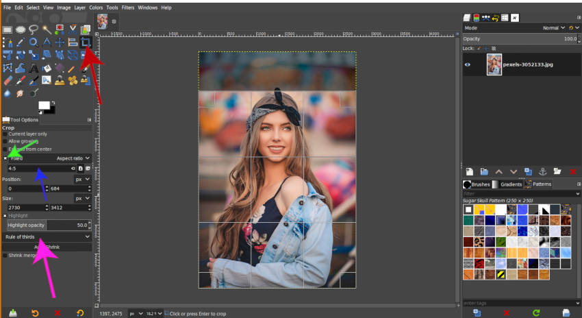 Setting the aspect ratio for your crop instagram tutorial
