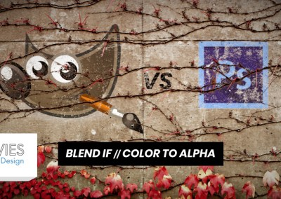 GIMP nasuprot Photoshopu: Blend If i Color to Alpha u odnosu na Alpha
