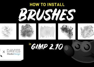 Borstels installeren in GIMP 2.10