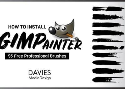 วิธีการติดตั้ง GIMPainter | 95 พู่กันแบบมืออาชีพฟรี