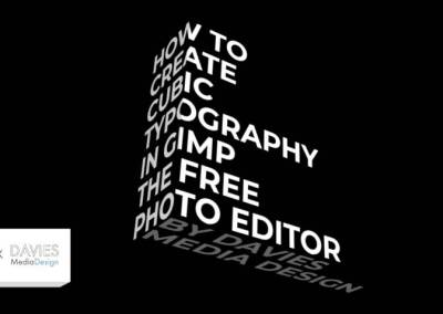 How to Create Cubic Typography in GIMP