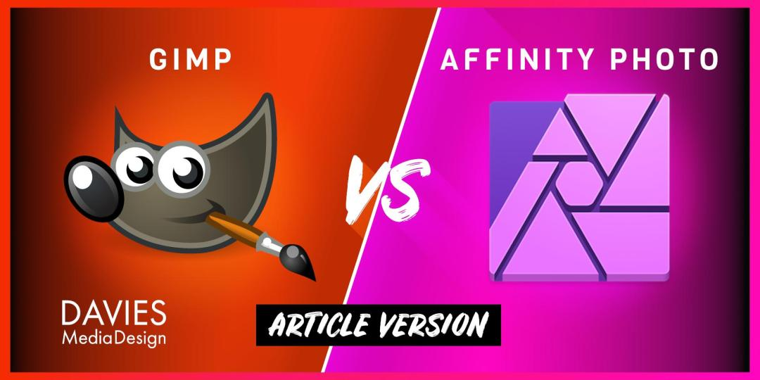 Articol comparativ GIMP vs Affinity Photo Photo Editor