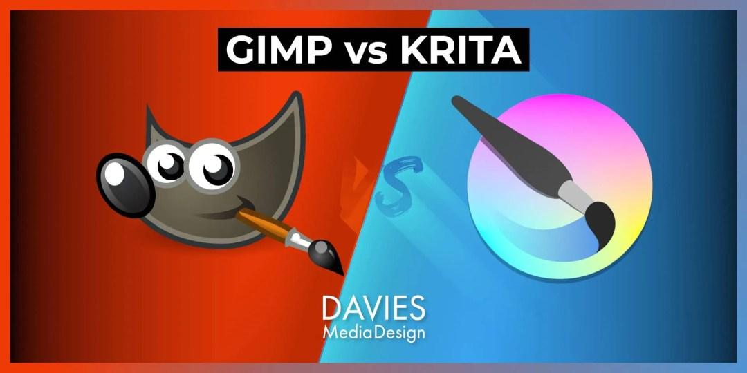 GIMP vs Krita Free Photo Editor Usporedba