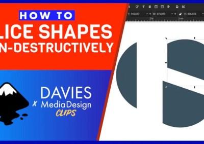 Slice Shapes nedistructiv cu acest nou efect Inkscape Live Path | Clipuri DMD