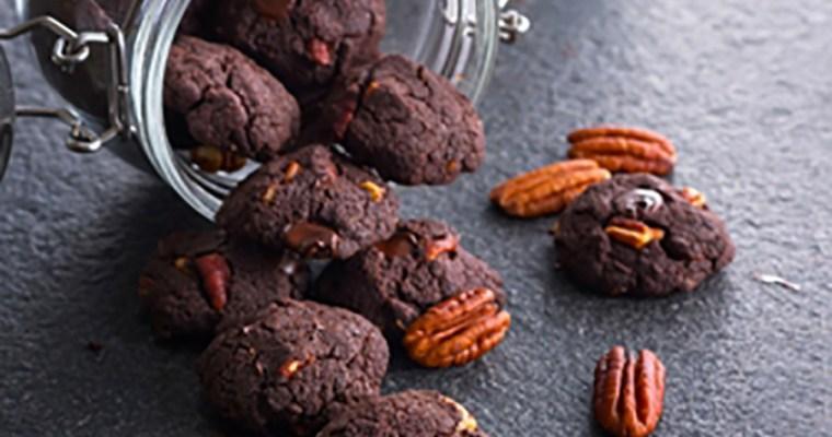 Double Chocolate Pecan Cookies (Gluten-Free)