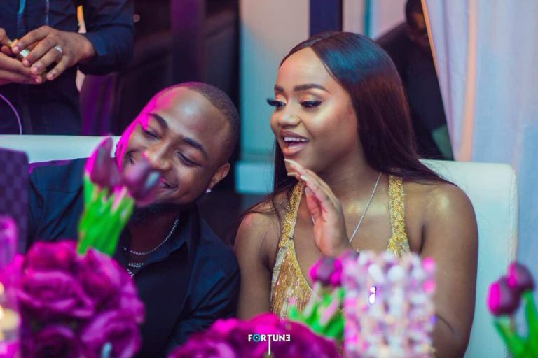 Davido's girlfriend, Chioma fights dirty with fans who say she is not pretty