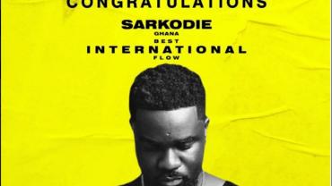 "SARKODIE WINS ""BEST INTERNATIONAL FLOW"" AT THE 2019 BET ""HIP HOP AWARDS"""