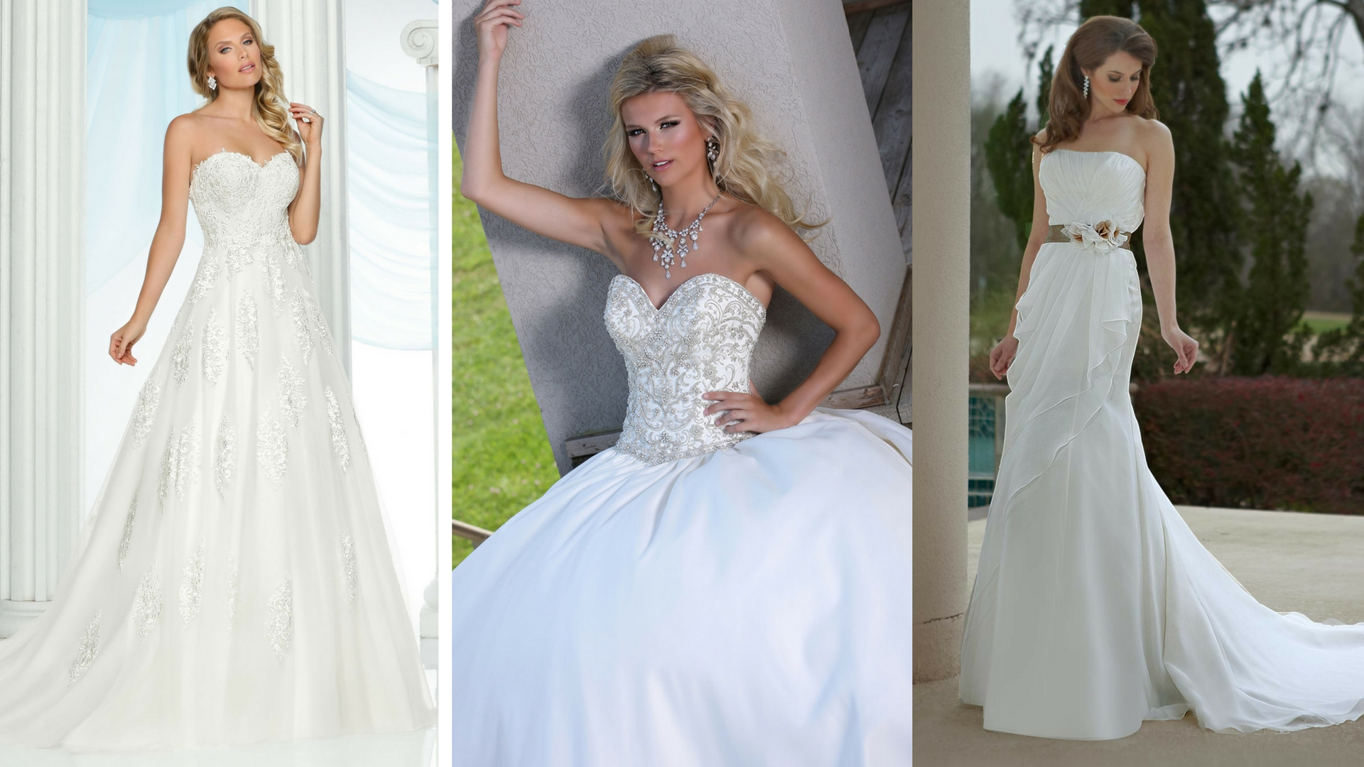 Strapless Sweetheart Wedding Gown