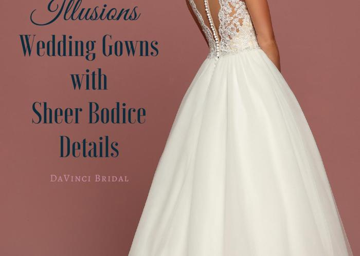 Illusion Sheer Bodice Wedding Dresses