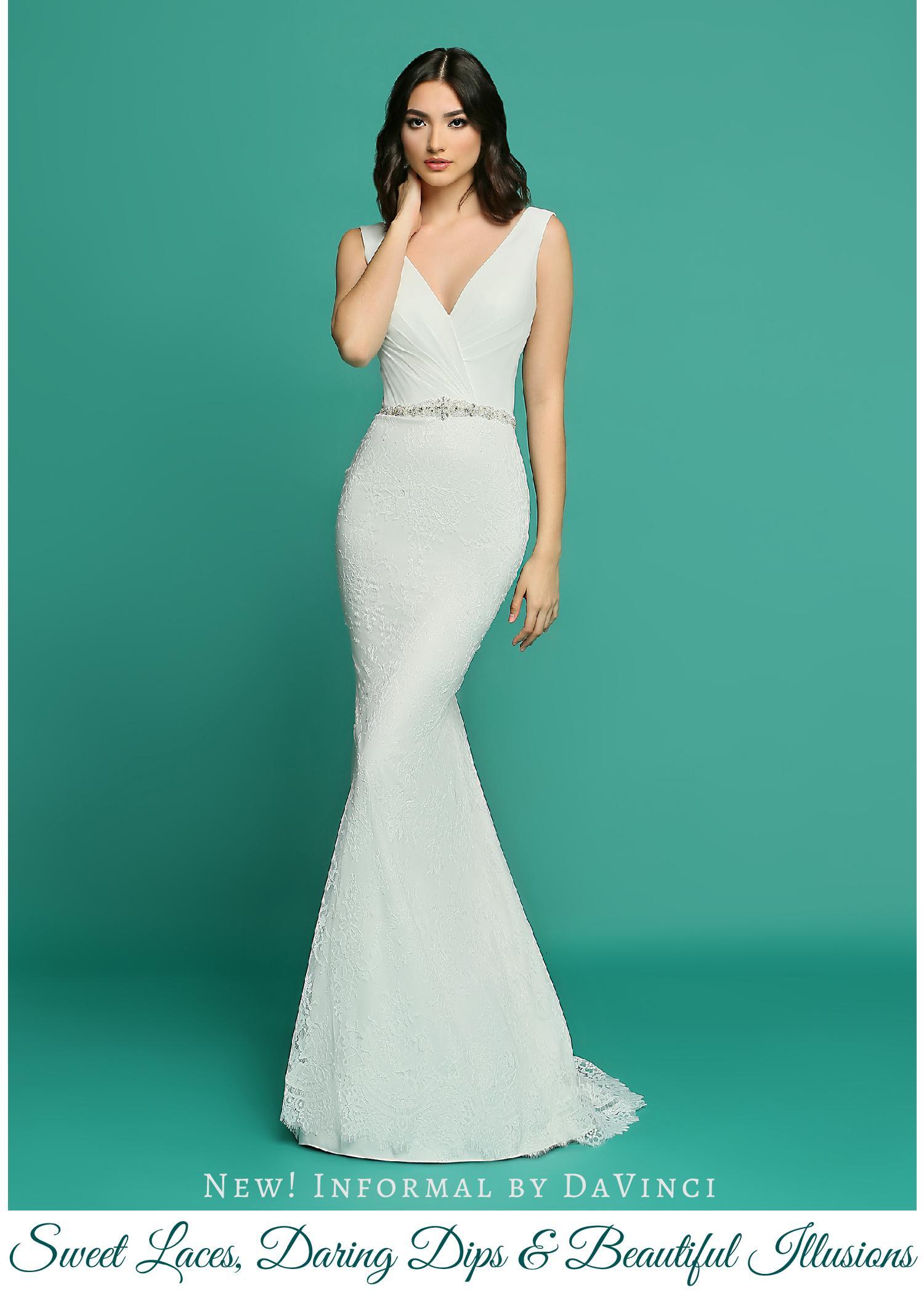 536749847028d Wedding Dresses from Informal by DaVinci: Sweet Laces, Daring Dips &  Beautiful Illusions – DaVinci Bridal Blog