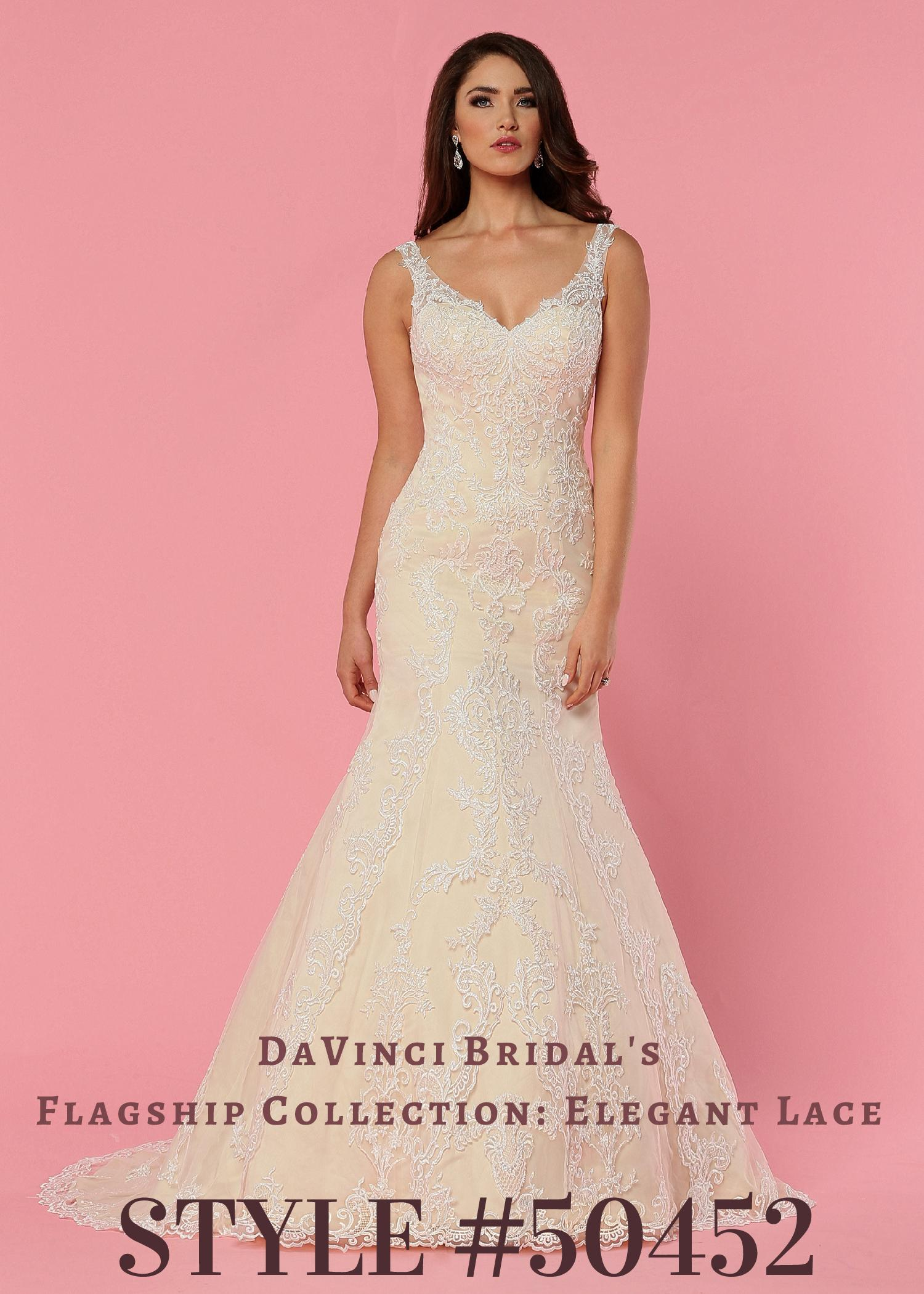 DaVinci Bridal Tulle and Lace Wedding Dress Style 50452
