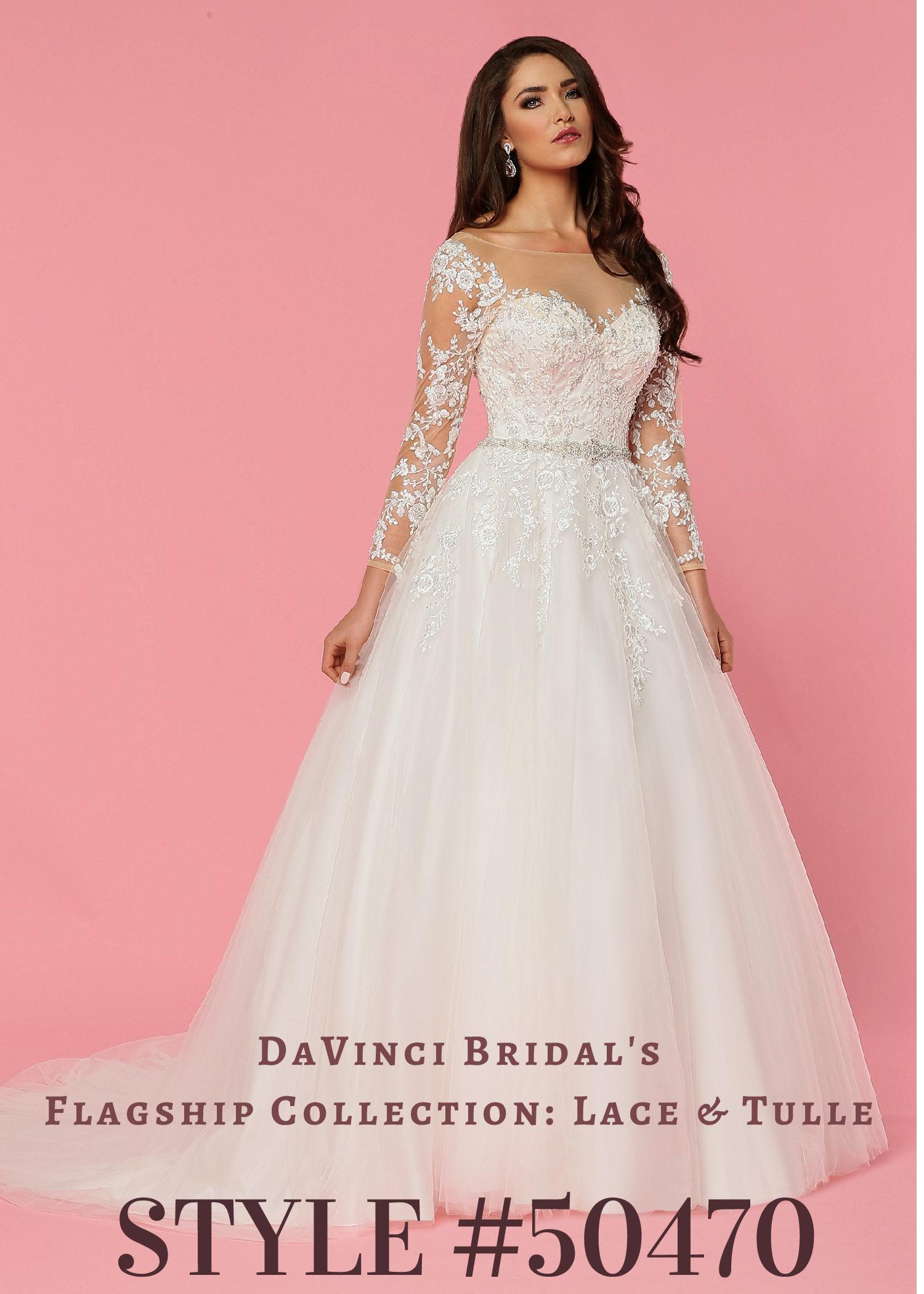 DaVinci Wedding Dresses | Style 50470 | Tulle & Lace – DaVinci ...