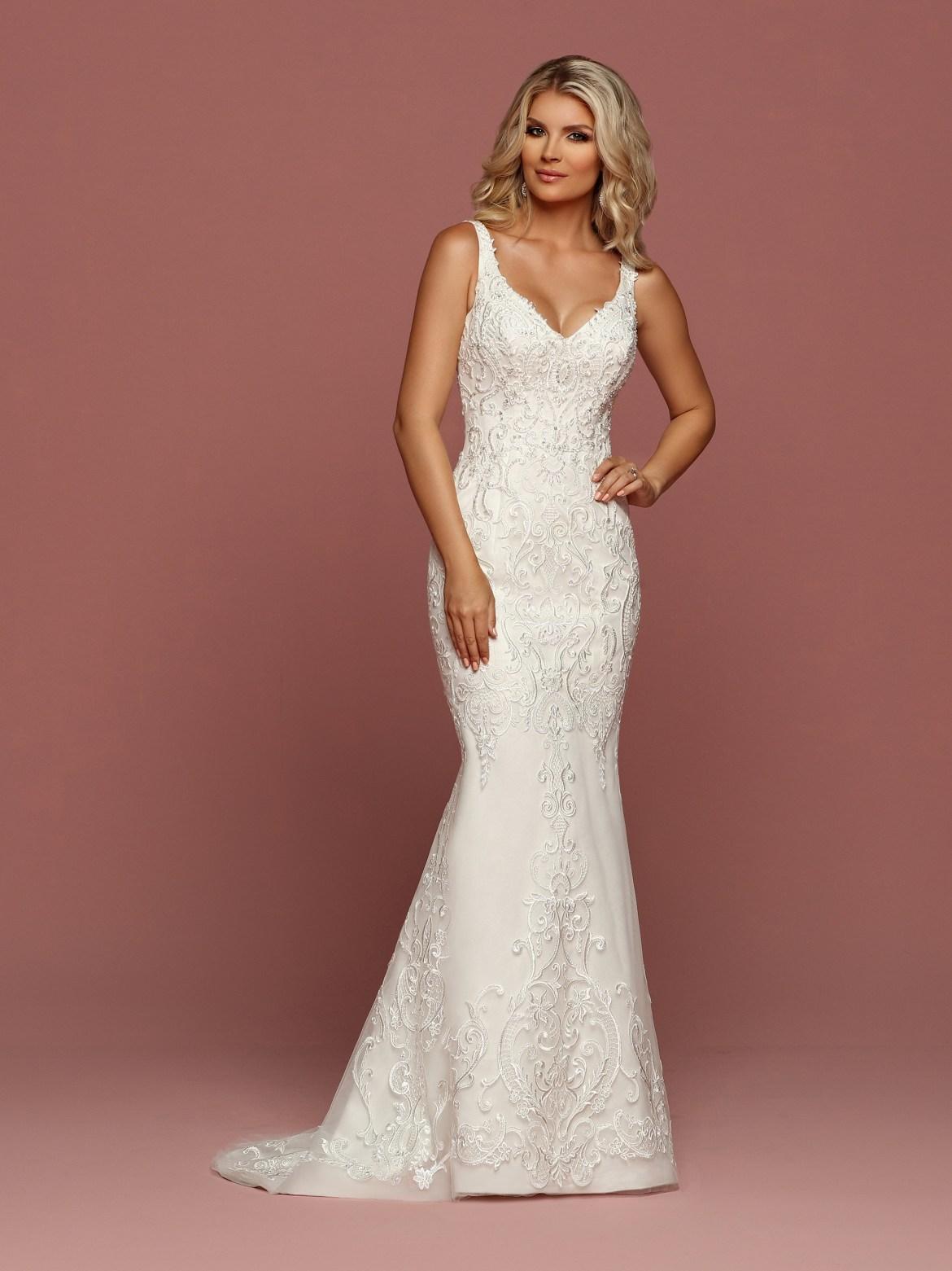 Sheath Form Fitting Lace Wedding Dresses Davinci Bridal Blog
