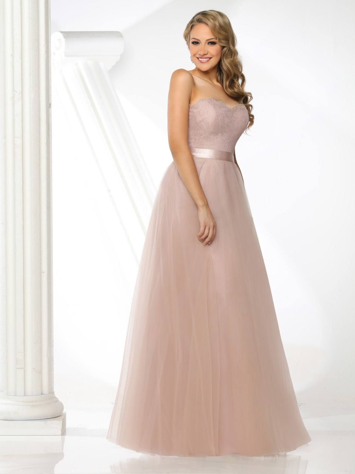 f5ec4df30f4 Style  60300  Strapless Sweetheart A-Line Ball Gown Bridesmaid Dress
