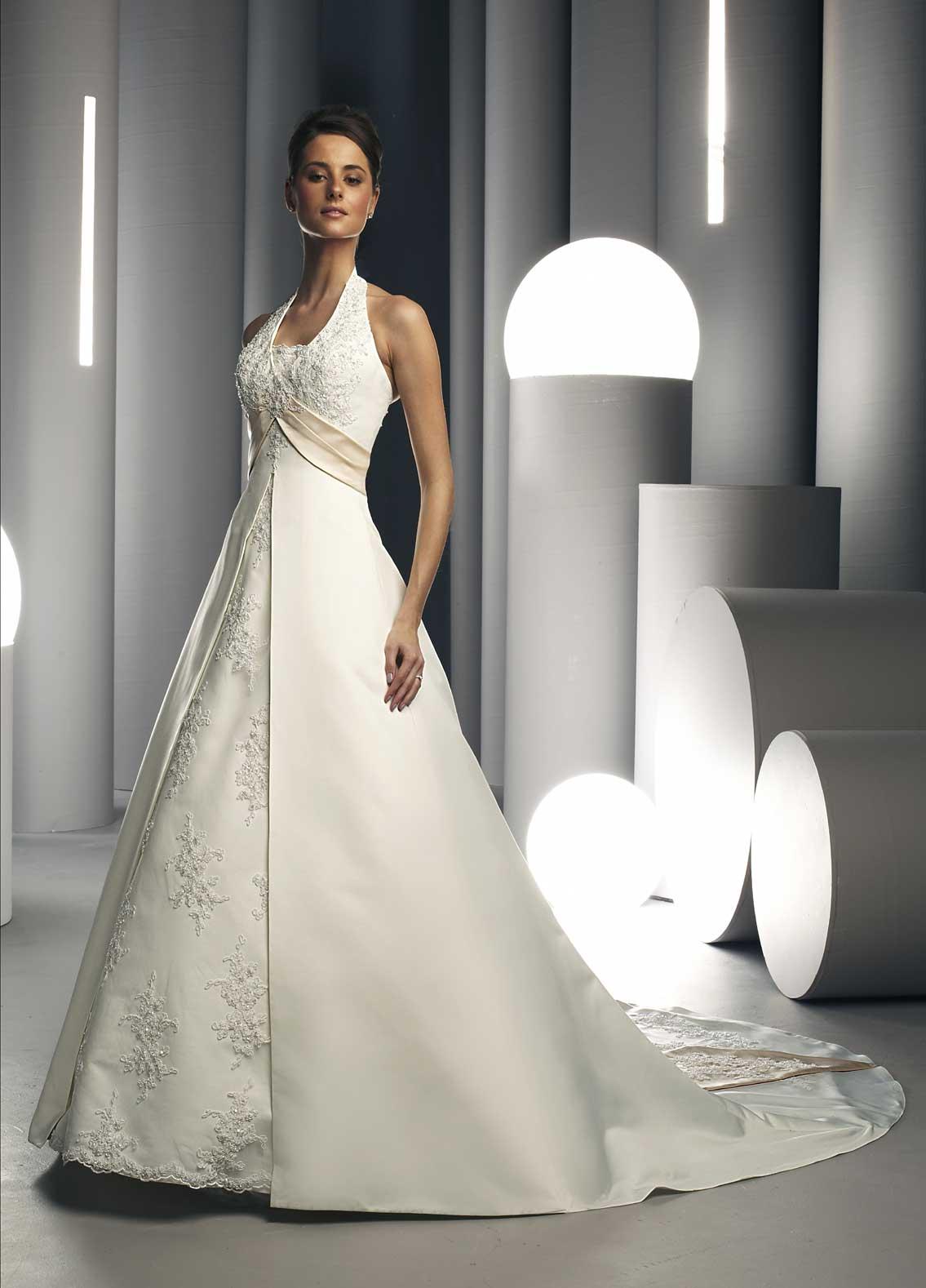 Fashion Focus: Halter Wedding Dress Collection