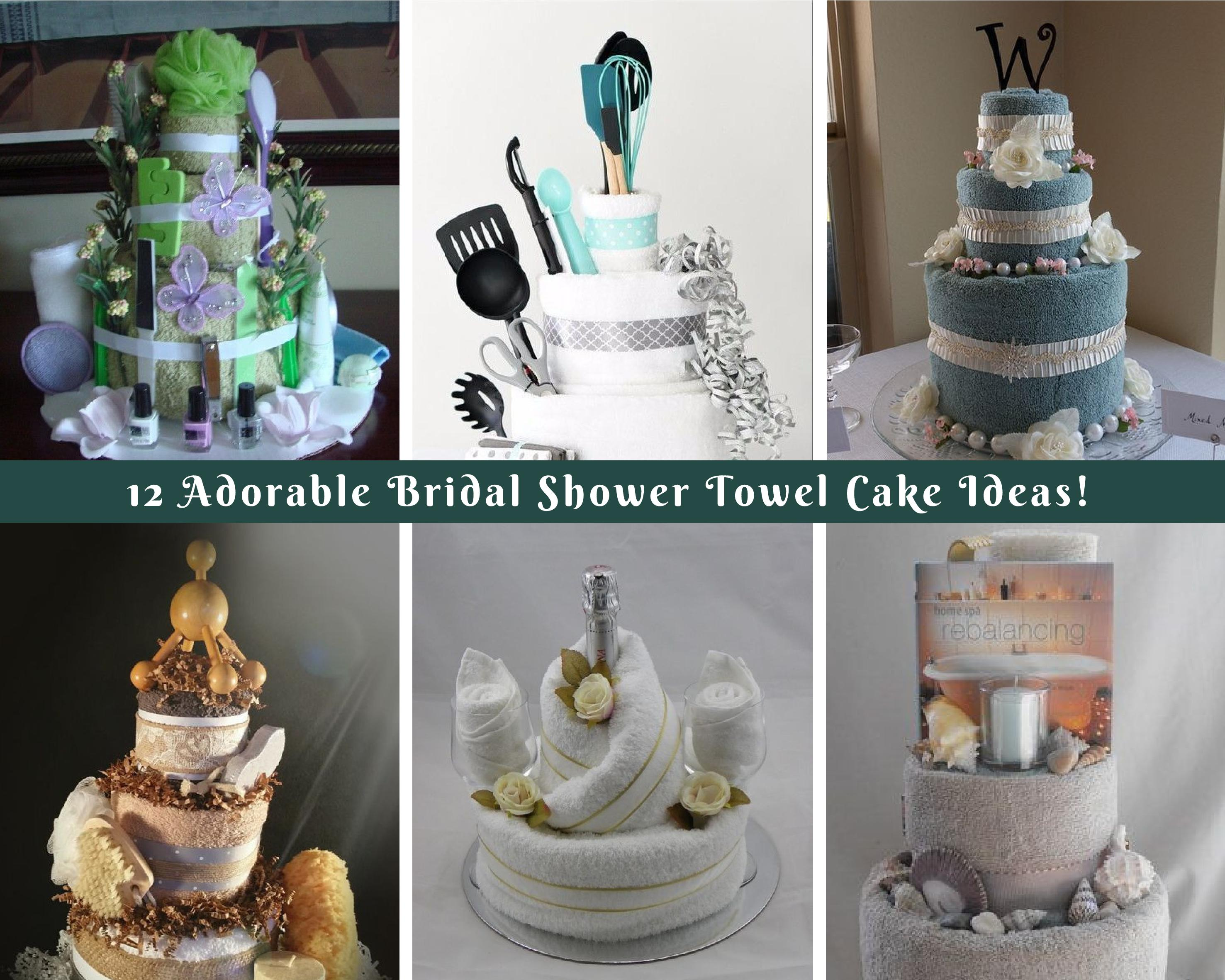 12 Adorable Bridal Shower Towel Cake Ideas