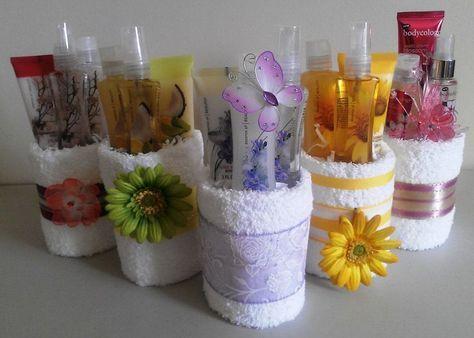 Mini Cupcake Bridal Shower Towel Cake Favors