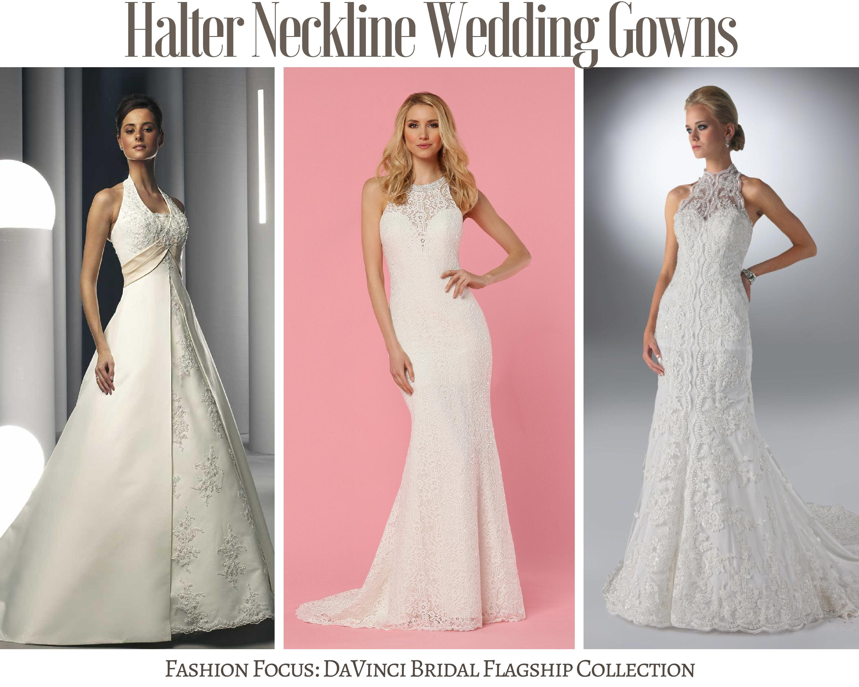 Fashion Focus Halter Wedding Dress Collection