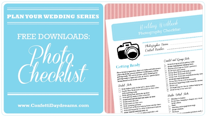 Wedding Photo Planning Checklist