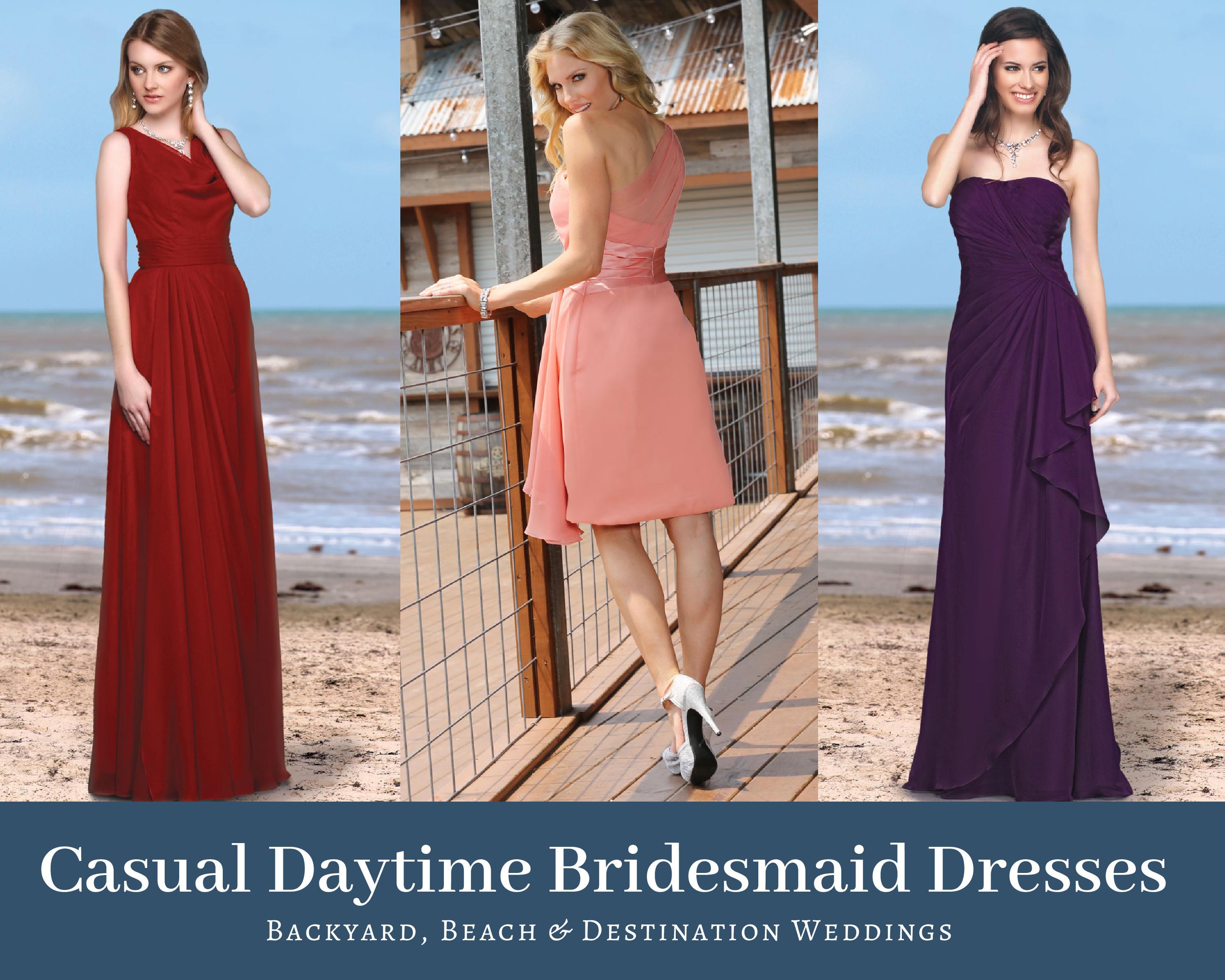 30 Casual Daytime Bridesmaids Dresses For Backyard Beach Destination