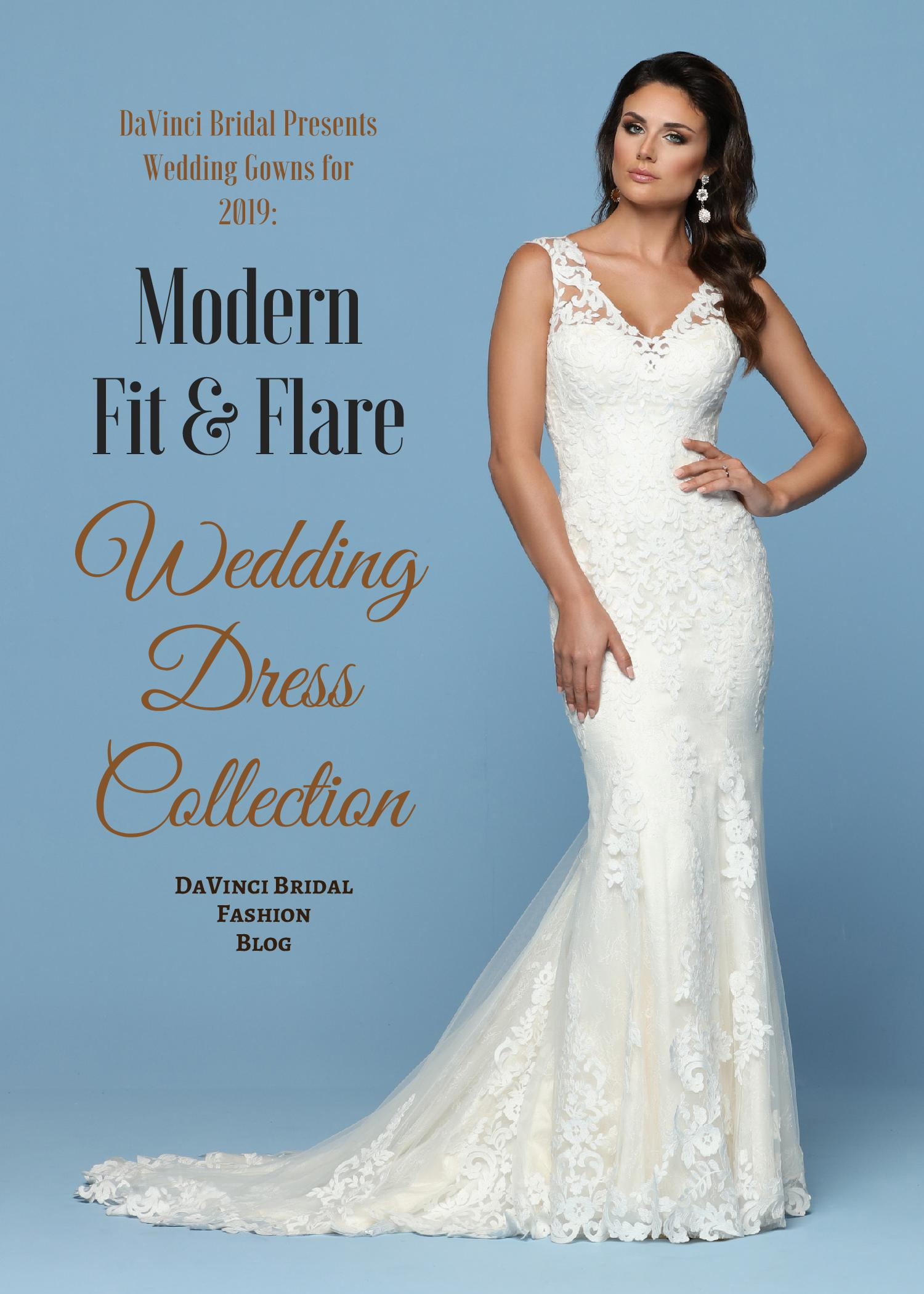 Wedding Gowns For 2019 Modern Fit Flare Wedding Dresses