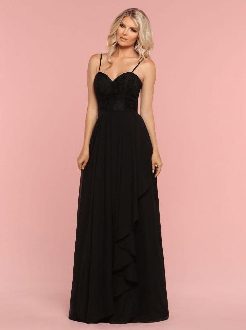 94c161f76a07 DaVinci Bridesmaids Style  60341  Chiffon   Lace A-Line Bridesmaid Dress