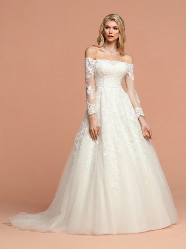 Long Sleeve Winter Bridal Dresses Wedding Gowns Davinci Bridal,Formal Dresses For Wedding In Pakistan