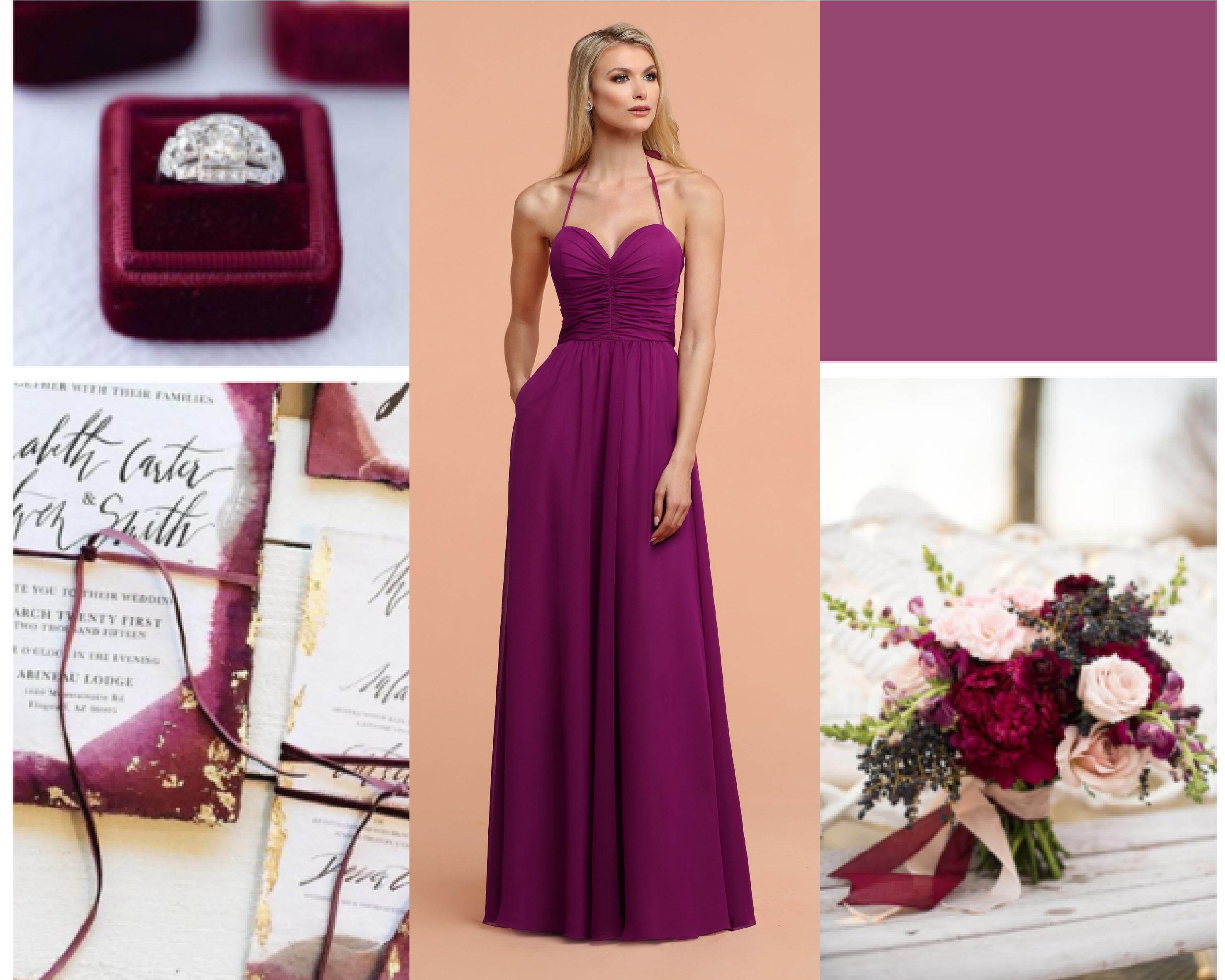 2020 Bridesmaid Dresses Color Trends Cassis Davinci Bridal,Satin V Neck Mermaid Wedding Dress