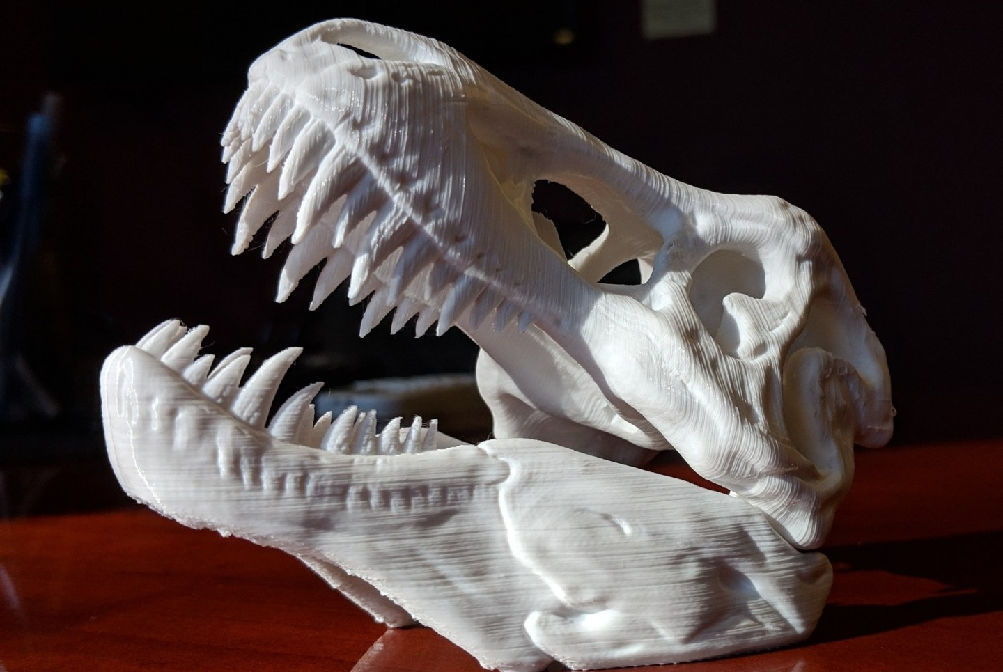 3d printed t-rex head