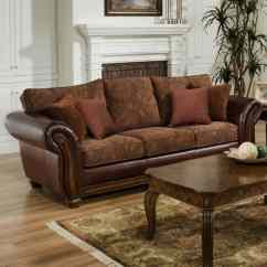 Leather And Chenille Sofa T Cushion Queen Sleeper Davis Appliance Furniture