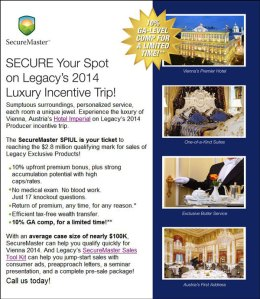 Incentive Trip Flyer