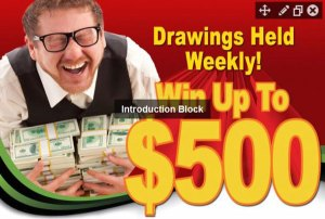Weekly $500 Drawing Flyer