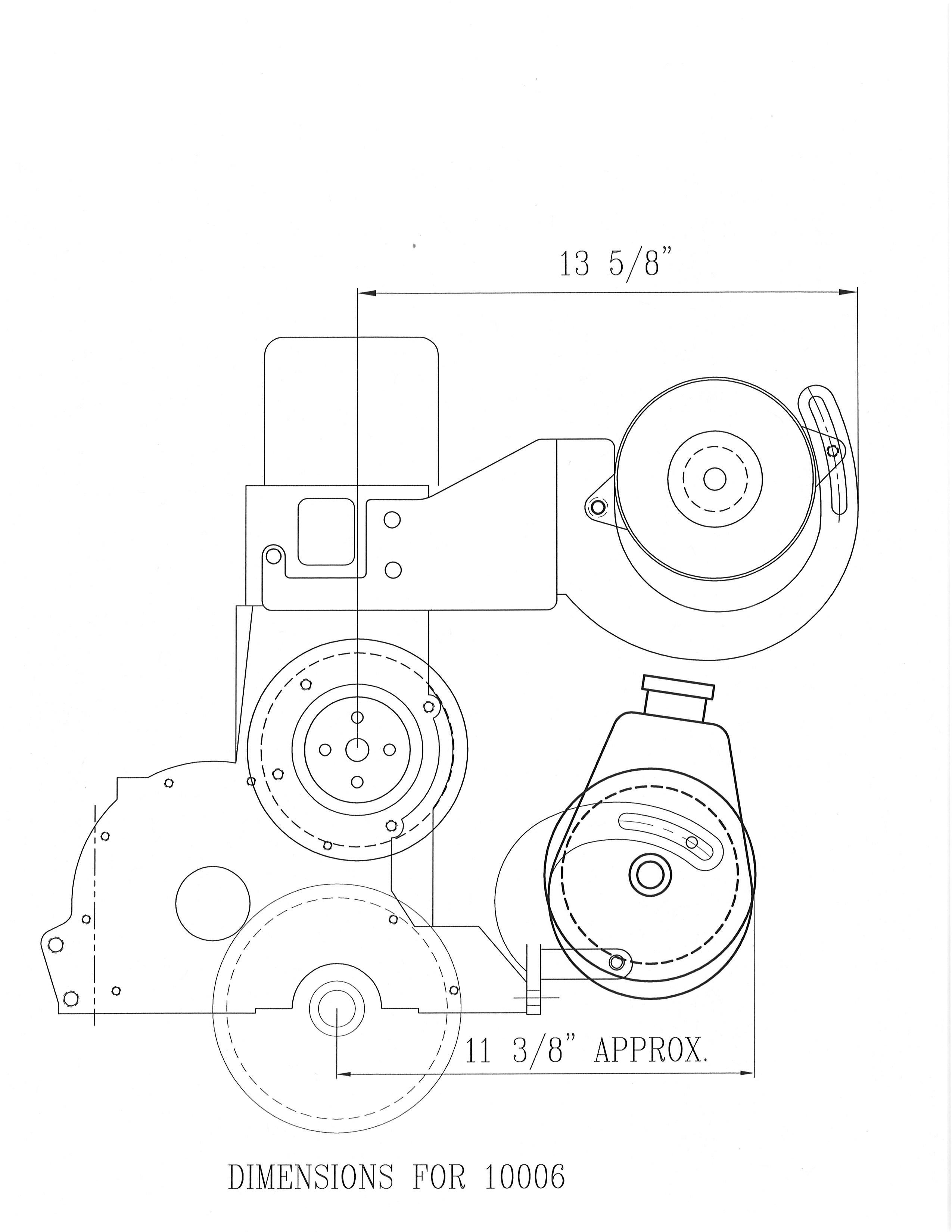Power Steering Amp Alternator Bracket 292 With 74