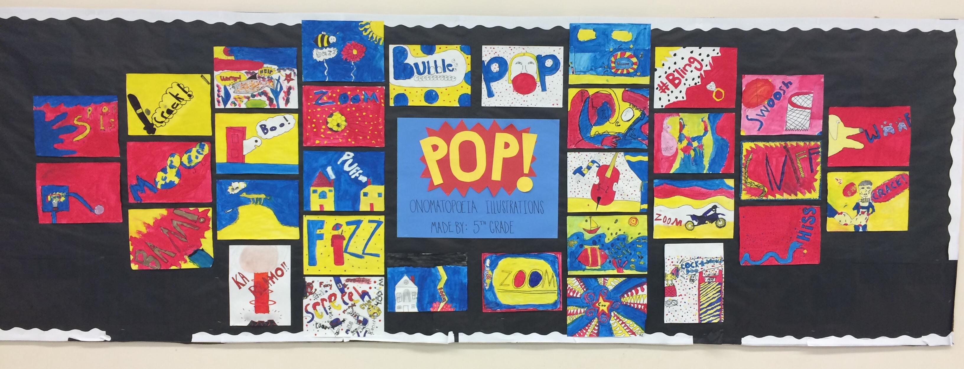 5th Grade Onomatopoeia Pop Art Davisthayerart