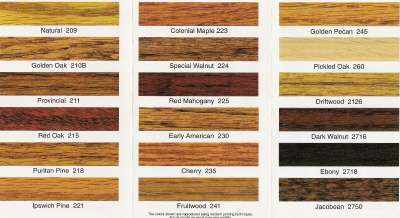 Sherwood Stain Colors