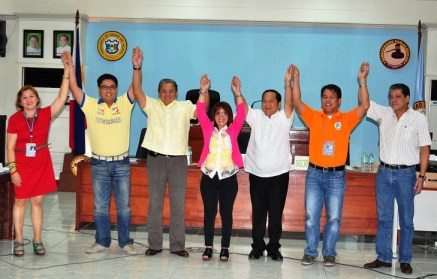 The Provincial Board of Canvassers of Davao del Norte, headed by Atty. Ma. Febes Barlaan, proclaim reelected Gov. Rodolfo del Rosario, Vice Gov. Victorio Suaybaguio, Jr., 1st District Congressman Anthony del Rosario and 2nd District Cong. Antonio Lagdameo, Jr. as winners in last Monday's elections. nobags