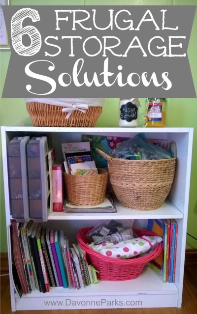 Six Fast and Frugal Storage Solutions. Great tips from a mom who organized her entire home without spending a dime!