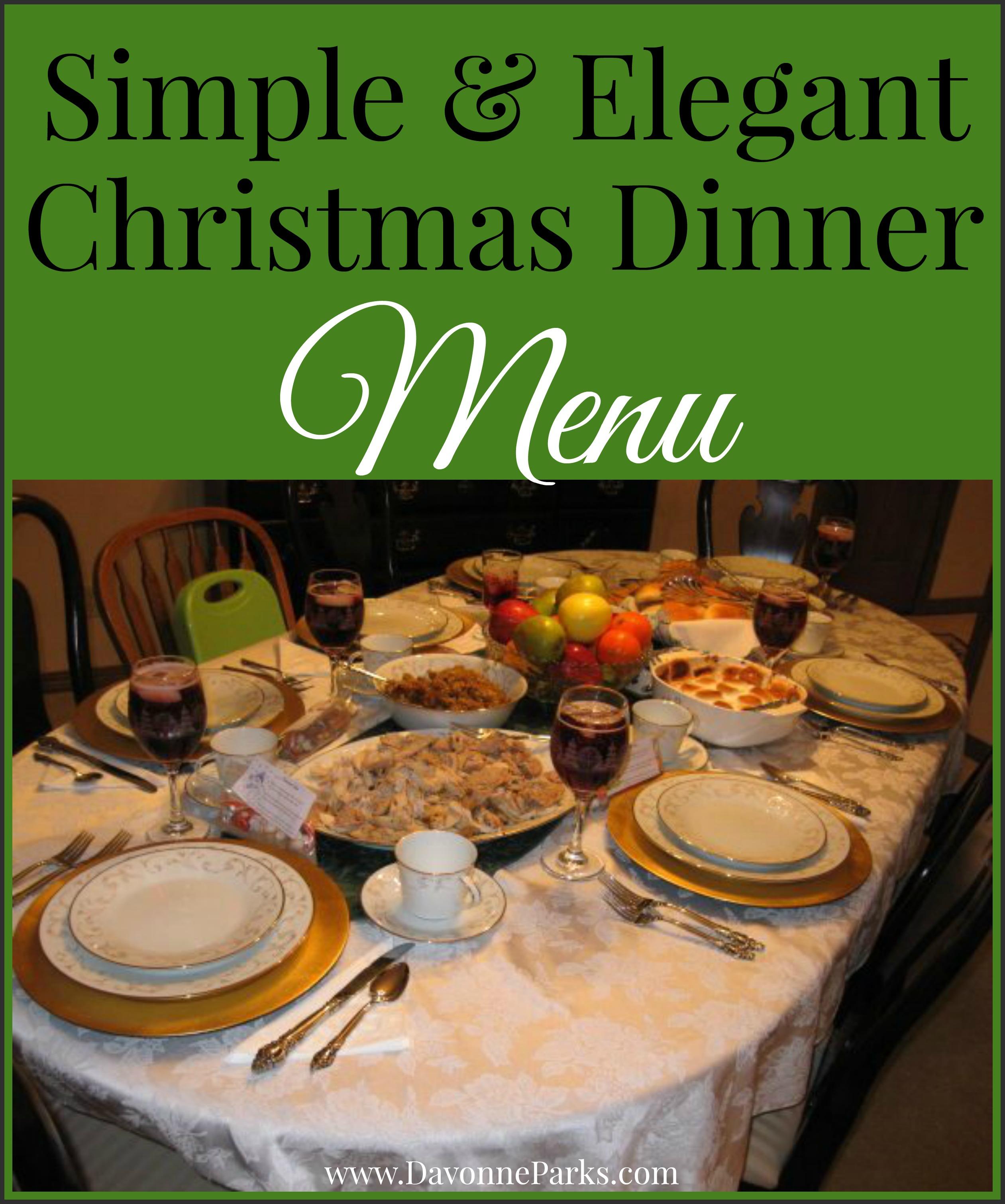 christmas dinner - Simple Christmas Menu