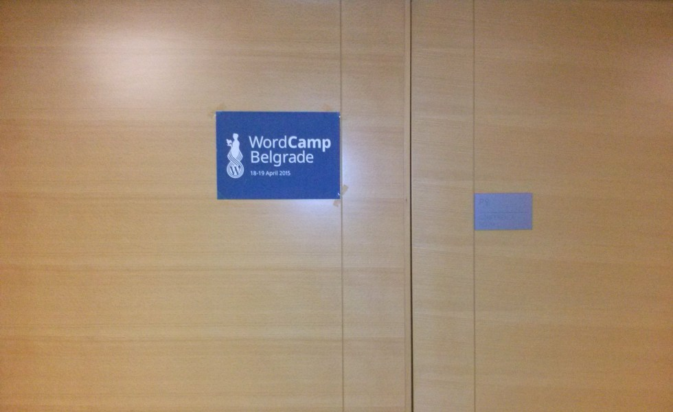 WordCamp Belgrade conference room