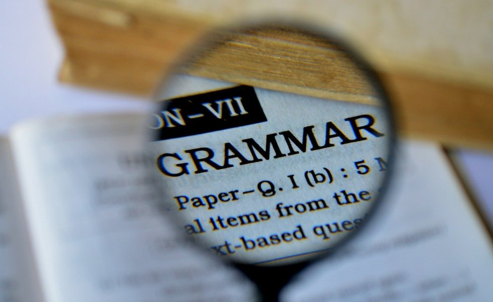 Grammar in dictionary