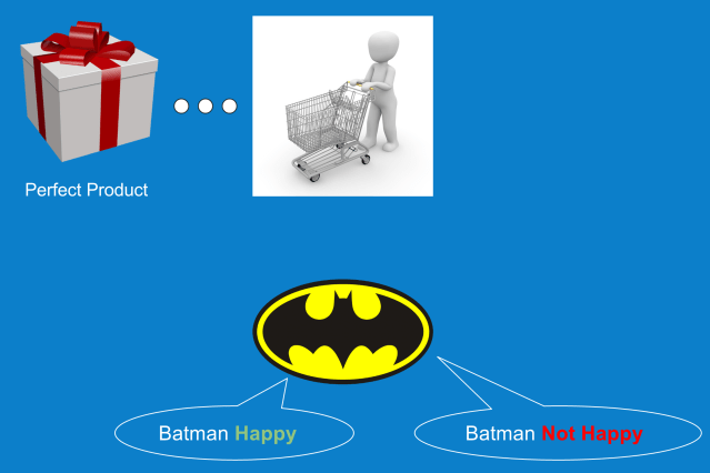 Batman as a customer